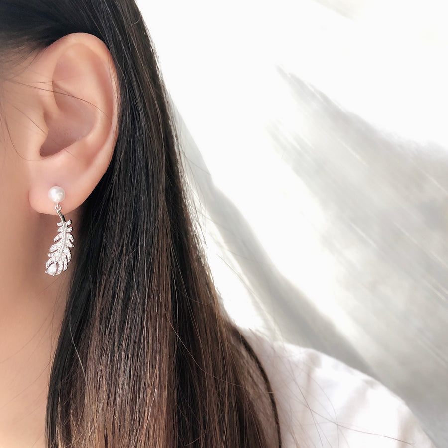 Made in Korea Earrings Korean Anting Cubic Zirconia Bride Bridal Dinner 925 Sterling Silver Accessory Fashion Fancy Stylish Costume Jewellery Online Malaysia Shopping Trendy Accessories Daily Wear Jewelry Dainty Minimalist Delicate Clip On Earrings No Piercing Special Perfect Gift From Heart For Your Loved One Hotel del Luna