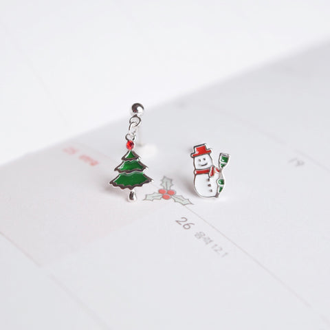 Snowman & Tree Earrings