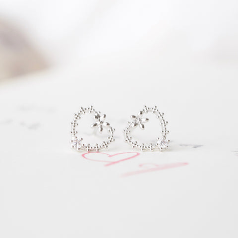 Made in Korea Silver Earrings Korean Anting Cubic Zirconia Bride Bridal Dinner 925 Sterling Silver Accessory Fashion Fancy Stylish Costume Jewellery Online Malaysia Shopping Trendy Accessories Daily Wear Jewelry Dainty Minimalist Delicate Clip On Earrings No Piercing Special Perfect Gift From Heart For Your Loved One