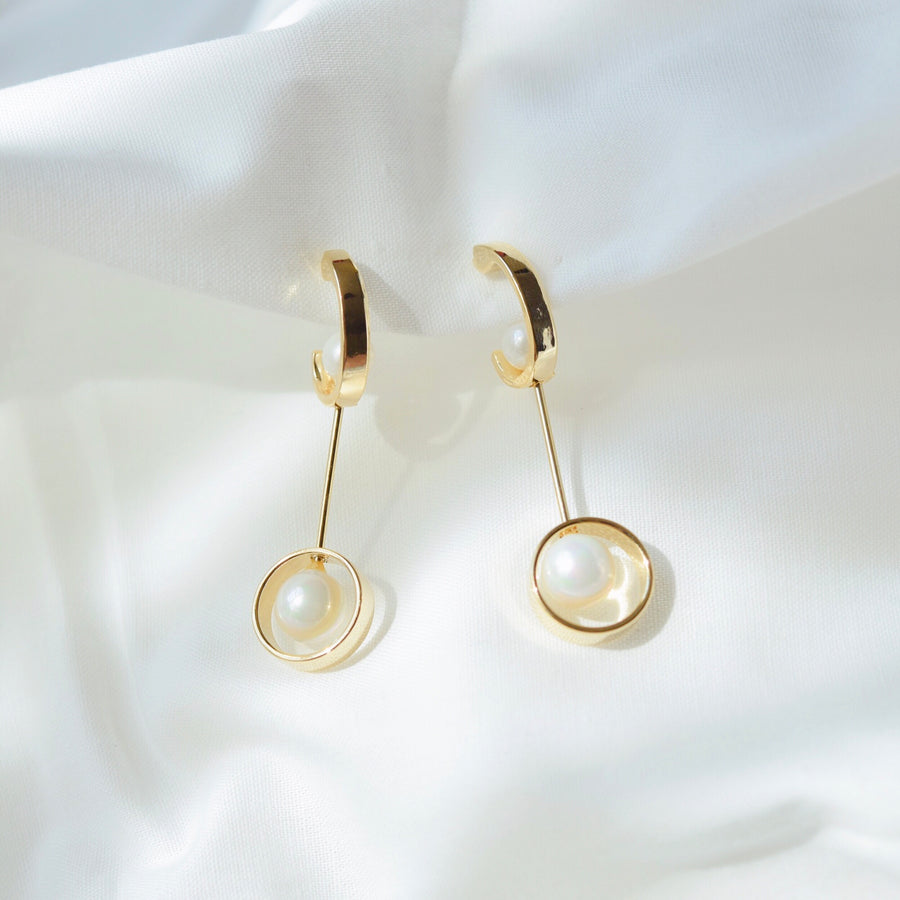 Gold Accessory Rose Gold Korea Made Earrings Korean Jewellery Jewelry Local Brand in Malaysia Cubic Zirconia Dainty Delicate Minimalist Jewellery Jewelry Bridal Bride Clip On Earrings 925 Sterling Silver Anting Dinner