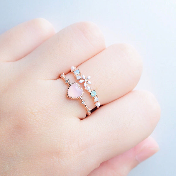 Opalescent Anemone Ring