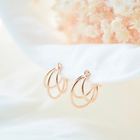 Rose Gold If You Earrings