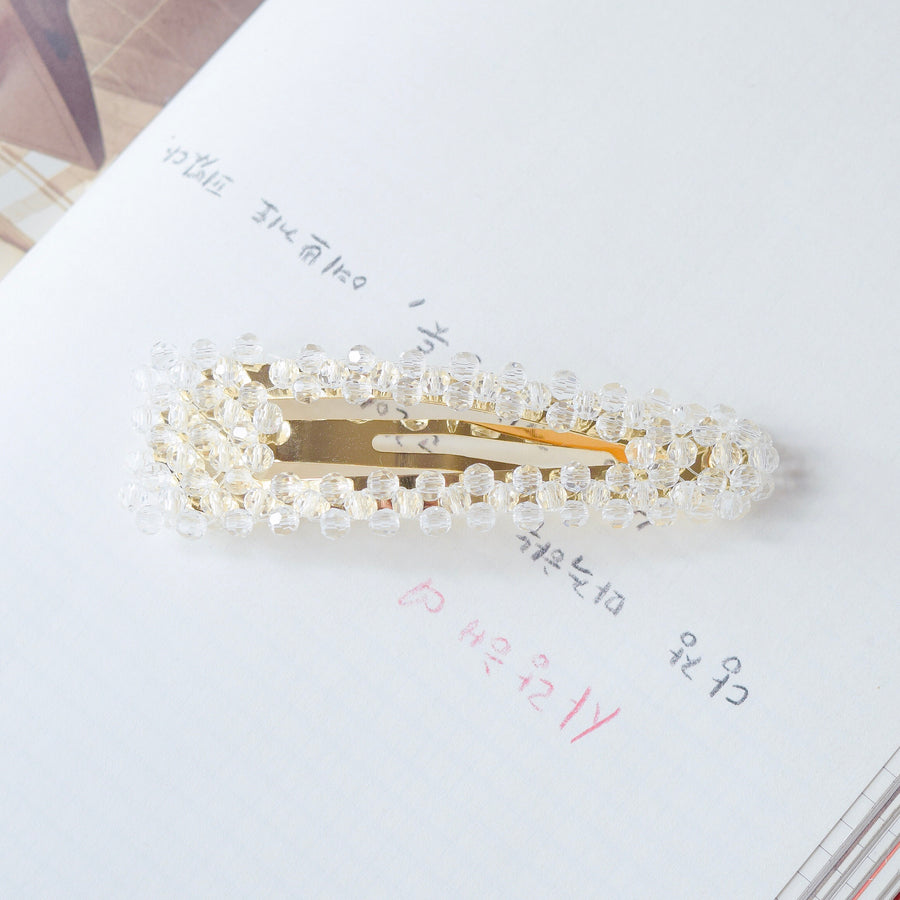 Hair Barrette Jewelry Fancy Daily Wear Crystal Bead Hair Clip For Wedding Bride Bridal Hair Accessories Hair Pin Local Brand In Malaysia