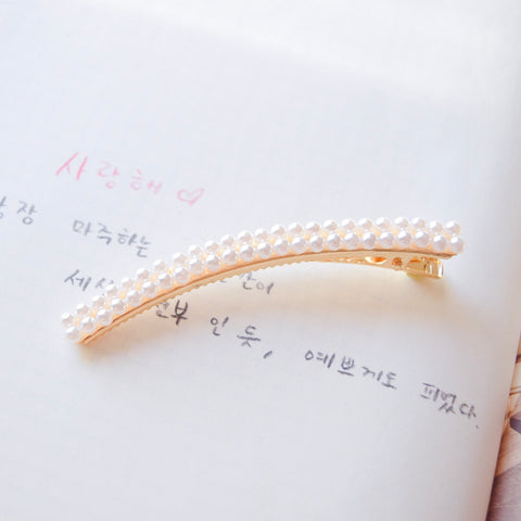 Hair Barrette Jewelry Daily Wear Pearl Hair Clip Fashion For Girls Hair Accessories Hair Pin Local Brand In Malaysia