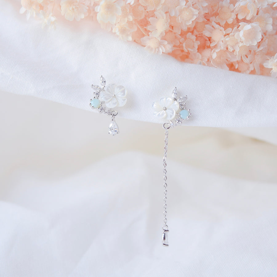 Silver Korea Made Earrings Local Brand in Malaysia Cubic Zirconia