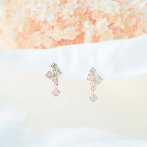 Rose Gold This is Love Earrings
