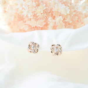 Rose Gold Heartfelt Earrings