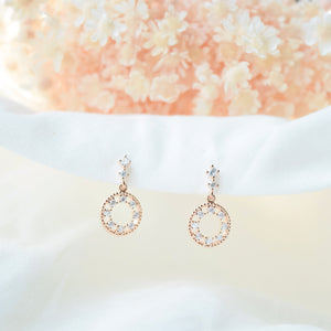 Rose Gold Back in Time Earrings