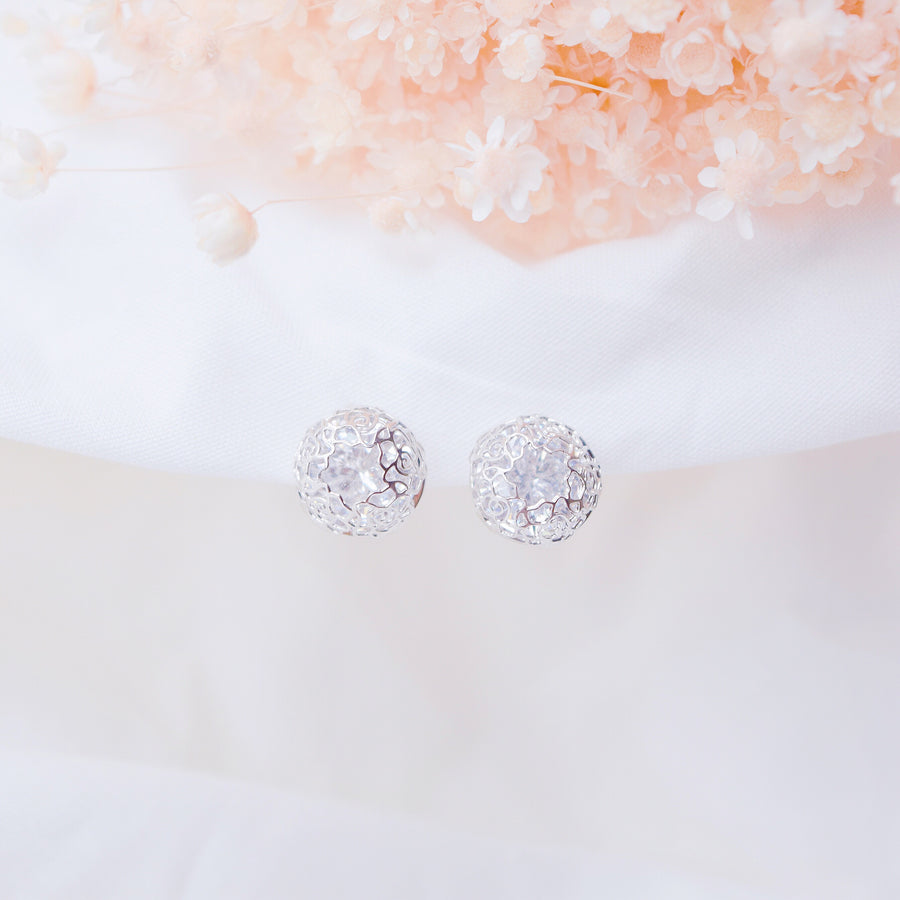 Silver Korea Made Earrings Local Brand in Malaysia Dainty Minimalist Cubic Zirconia Gold Bridal Earrings Bride Gift for Her
