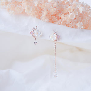 Rose Gold Rue Earrings