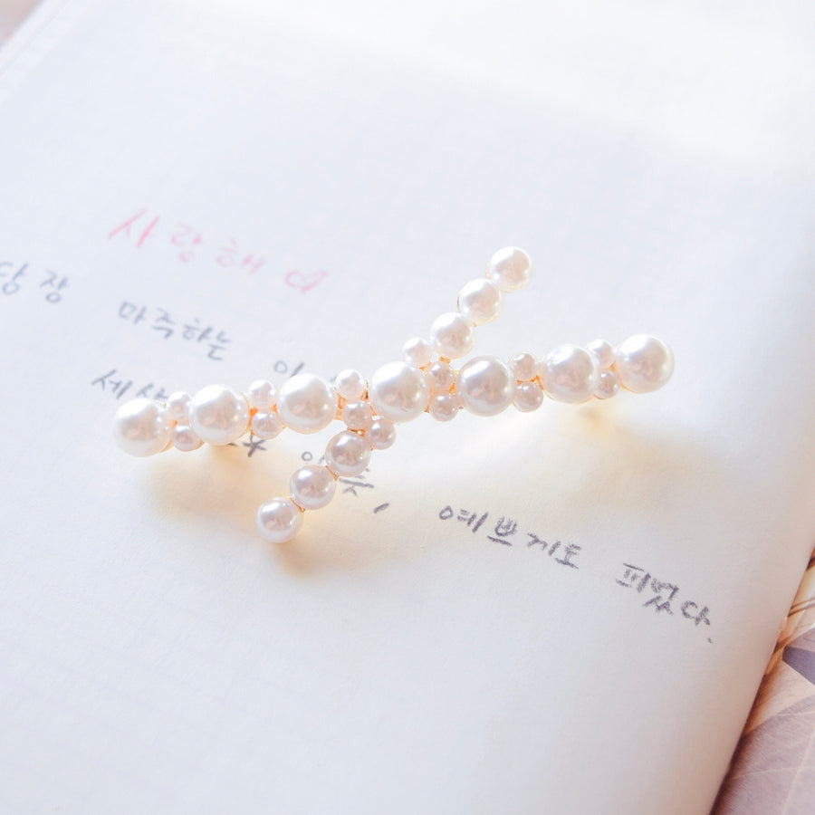 Hair Barrette Jewellery Daily Wear Pearl Hair Clip Trend For Her Hair Pin Hairclip Local Brand In Malaysia