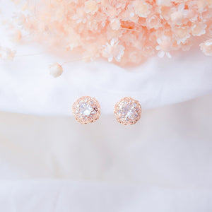 Rose Gold Chris Belle Earrings