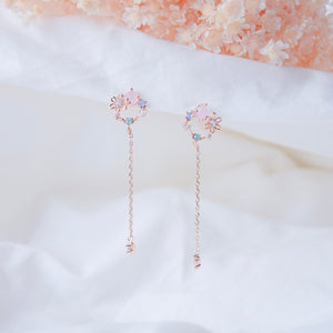 Rose Gold Korea Made Earrings Pink Dainty Delicate Local Brand in Malaysia 925 Sterling Silver Anting Cubic Zirconia Clip On Earrings
