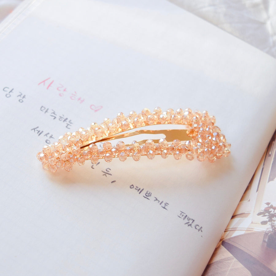 Made In Korea Hair Pin Hairclip Crystal Bead Hair Clip Hair Barrette Local Brand in Malaysia Pearl Hair Clip