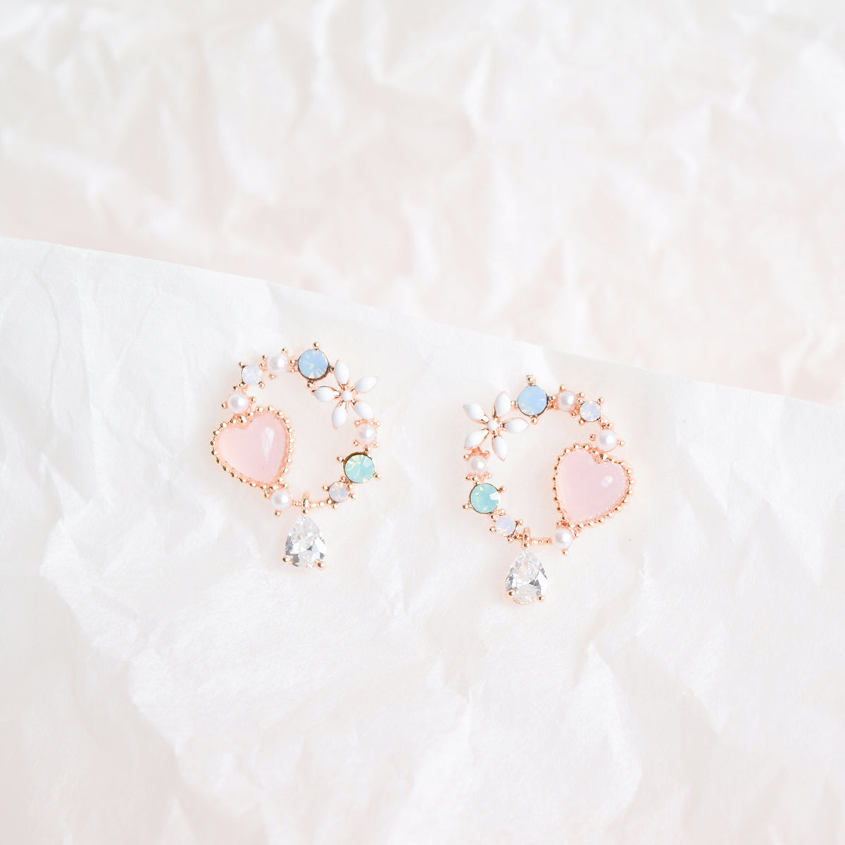 Opalescent Anemone Earrings
