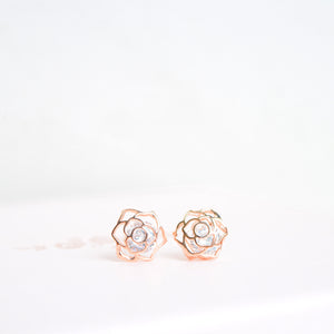 Rose Gold Aurora Earrings