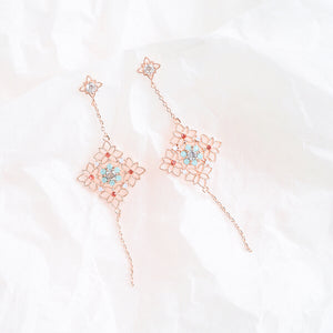Rose Gold Endless Knot Earrings