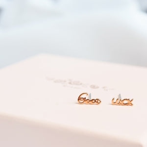 Rose Gold Good Luck Earrings