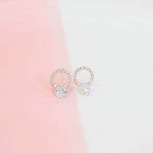 Rose Gold Wrea Earrings