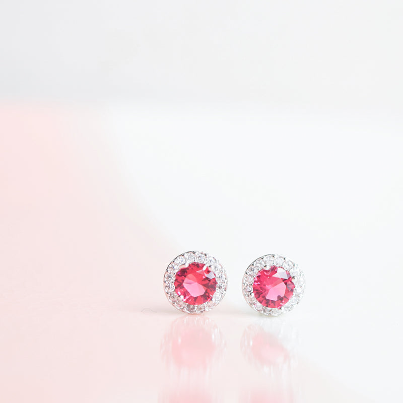 Silver Made Earrings Petite Stud Cubic Zirconia 925 Silver Daily Wear Anting-Anting Korean Fashion Stylish Resin Clip On Earrings Trendy Gift For Her