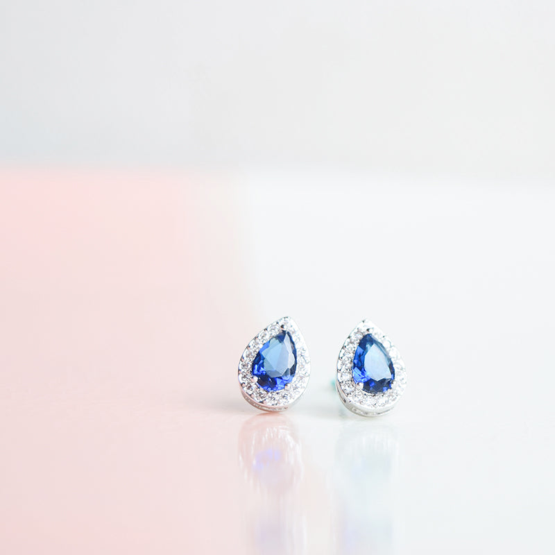 Sapphire Fendi Tear Drop Earrings