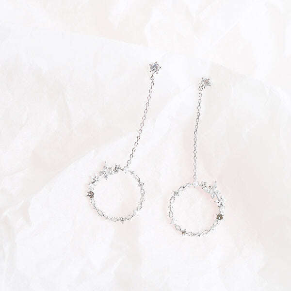 Silver Encyst Dangling Earrings