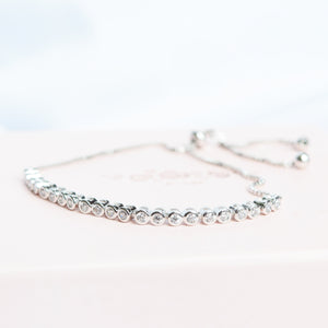 Silver Tennis Diamond Bracelet