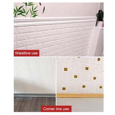 Self-adhesive Three-dimensional Wall Edging Strip Storioh