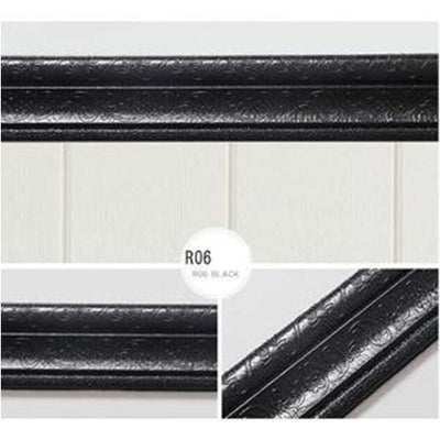 Self-adhesive Three-dimensional Wall Edging Strip Storioh R06 BLACK