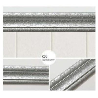 Self-adhesive Three-dimensional Wall Edging Strip Storioh R06 SILVER GRAY