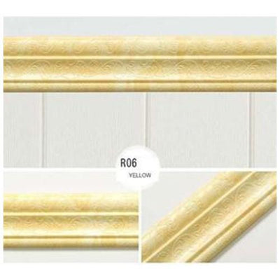 Self-adhesive Three-dimensional Wall Edging Strip Storioh R06 YELLOW