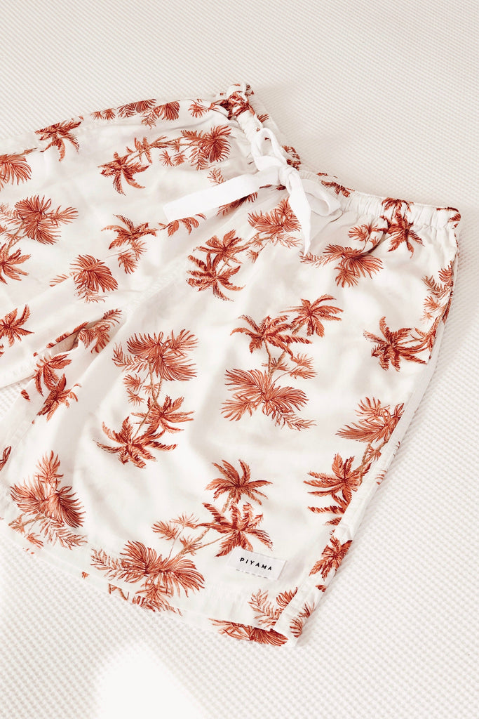 Men's Boxer Shorts - Vintage Palm - Sunset