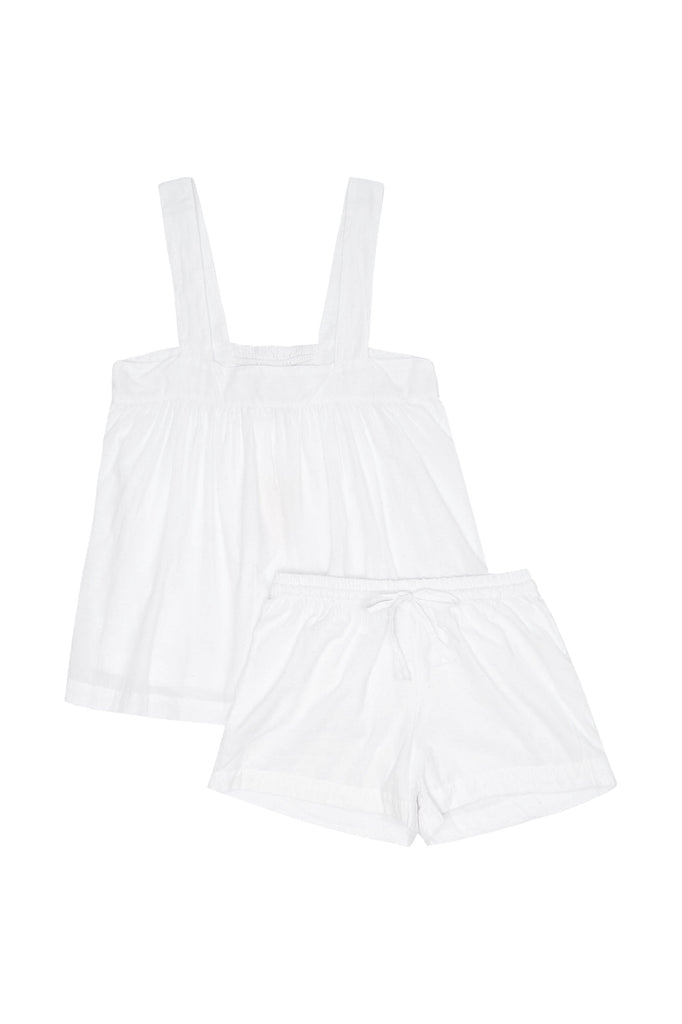 Suzie Sleep Set - Cotton - White Swiss Dot