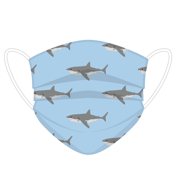 Shark Print Face Cover