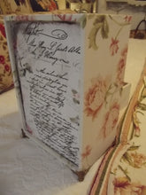 Load image into Gallery viewer, French Fabric Covered BOUDOIR Box Chest of Drawers