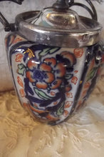Load image into Gallery viewer, Ceramic Hand painted Biscuit Jar, Taylor Tunnicliffe Staffordshire, Imari, 1870's