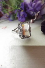 Load image into Gallery viewer, Vintage Emerald cut 16.5 ctw Ametrine Sterling Silver ring sz 7.25