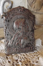 Load image into Gallery viewer, French Signed Saint Religious Copper Plaque