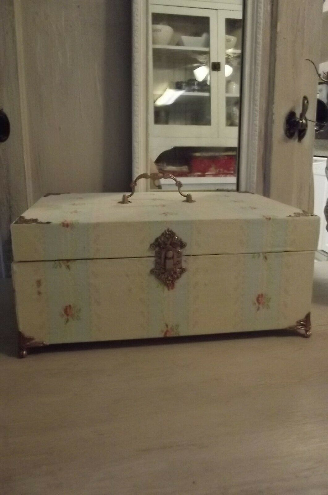French Fabric Covered Wentworth BOUDOIR Box 12 X 9