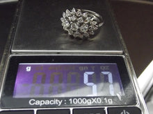 Load image into Gallery viewer, Antique European Mine Cut Diamond 18K Platinum Cluster Ring Size 9.25