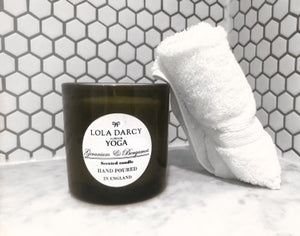 LOLA DARCY YOGA - AMBER AND SANDALWOOD Scented Soy Candle