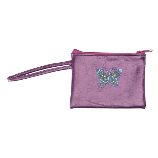 Dark Metallic-Purple Butterfly Phone Clutch