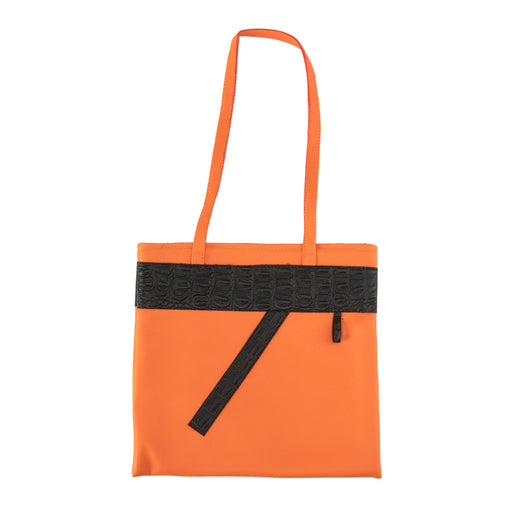 Orange and Black Tote