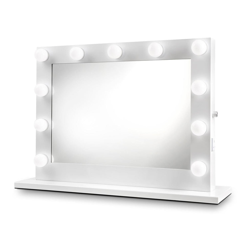 Kylie White Hollywood Mirror with LED Lights -  60 x 80cm - Glamour Mirrors UK