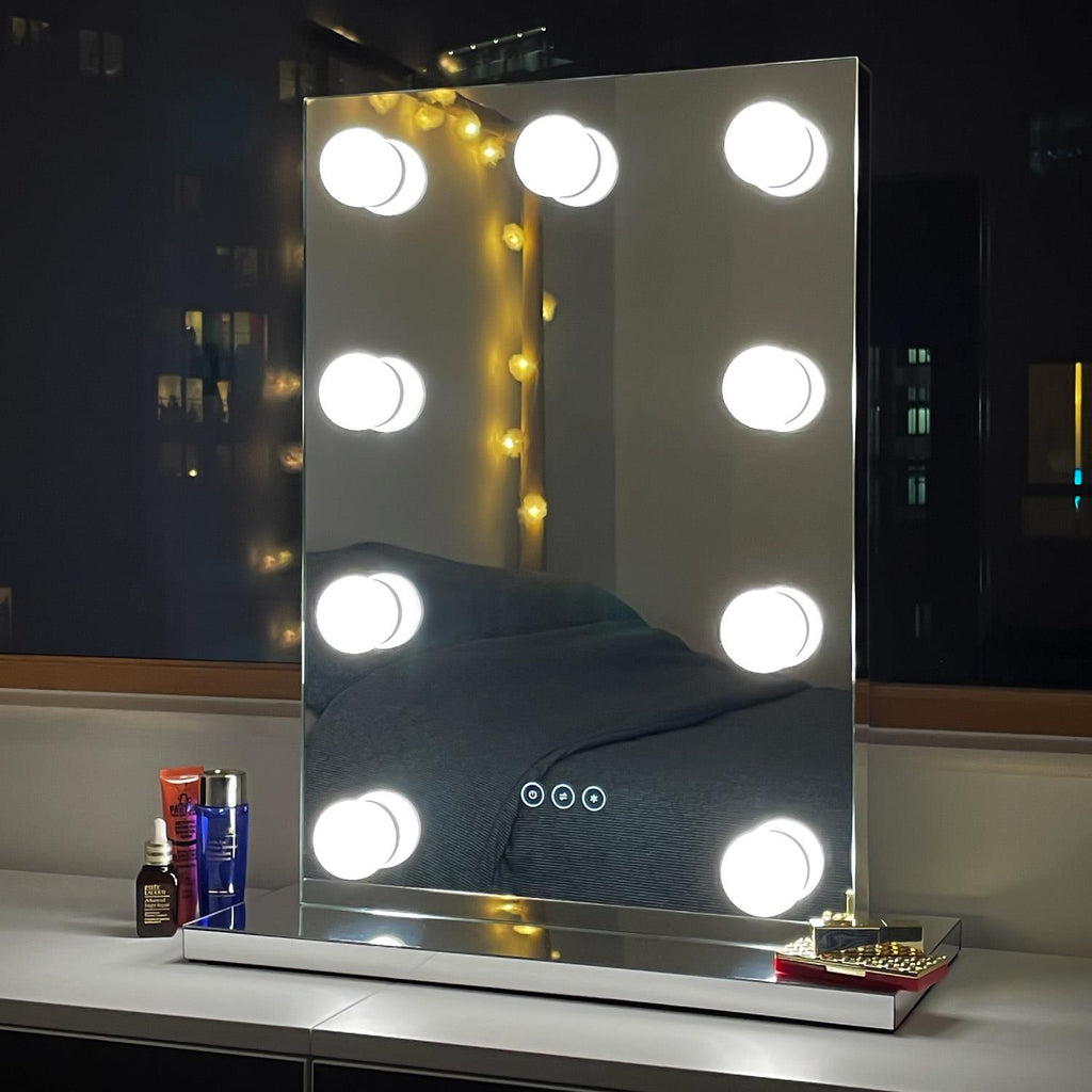 Kendall LED Illuminated Hollywood Mirror - 65x45cm - Glamour Mirrors