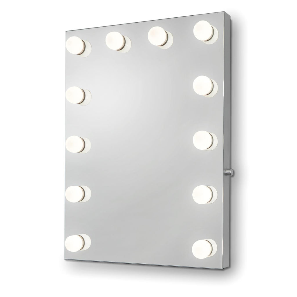 Mariah Hollywood Mirror With LED Lights - 80 x 60cm - Glamour Mirrors UK