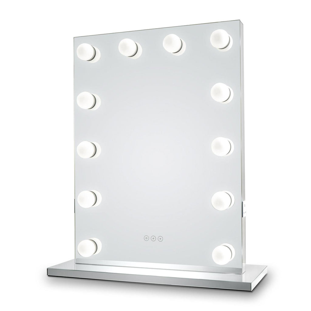 Whitney Audio Hollywood Mirror with LED Lights - 80 x 60cm - Glamour Mirrors UK