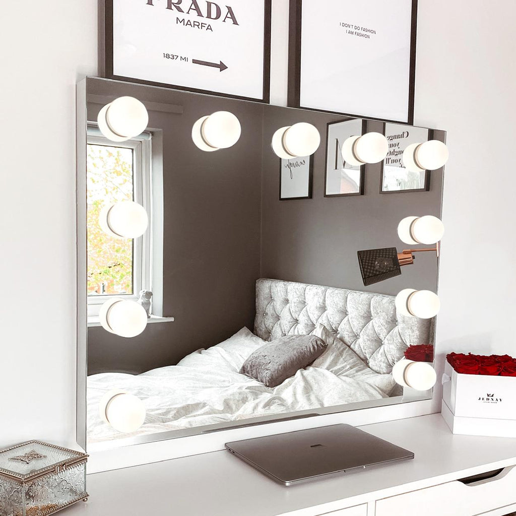 Mariah Hollywood Mirror With LED Lights - 60 x 80cm - Glamour Mirrors UK