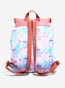 Loungefly Disney Lilo and Stitch Tropical Drawstring Backpack