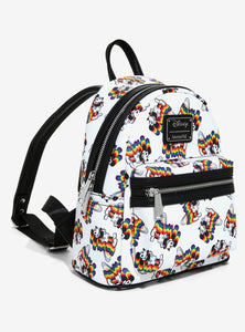 Loungefly Disney Mickey Mouse Rainbow Mini Backpack